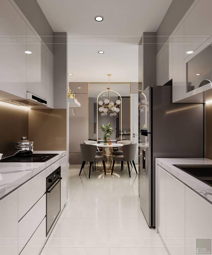 Thiết kế nội thất căn hộ SAIGONMIA - Khoảng trời của riêng tôi:  Nhà bếp by ICON INTERIOR, Hiện đại