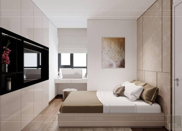 Thiết kế nội thất căn hộ SAIGONMIA – Khoảng trời của riêng tôi:  Phòng ngủ by ICON INTERIOR, Hiện đại