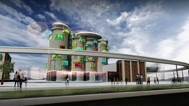 飯店設計:  飯店 by 亚卡默设计 Akuma Design , 現代風 水泥