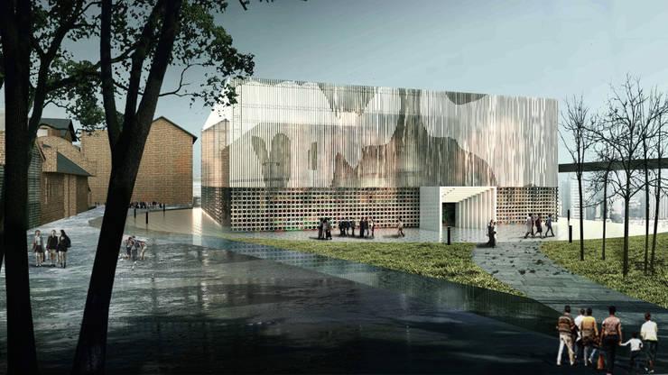 展覽中心:  展覽中心 by 亚卡默设计 Akuma Design , 現代風 金屬
