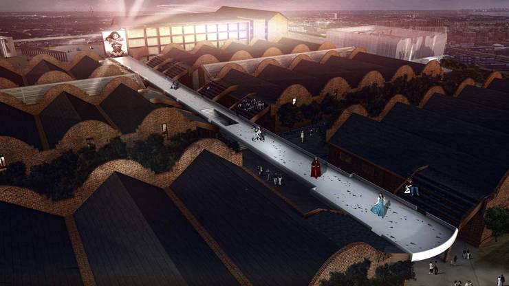 伸展台:  商業空間 by 亚卡默设计 Akuma Design , 現代風 金屬