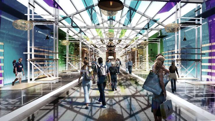 展覽中心:  展覽中心 by 亚卡默设计 Akuma Design , 現代風 塑膠