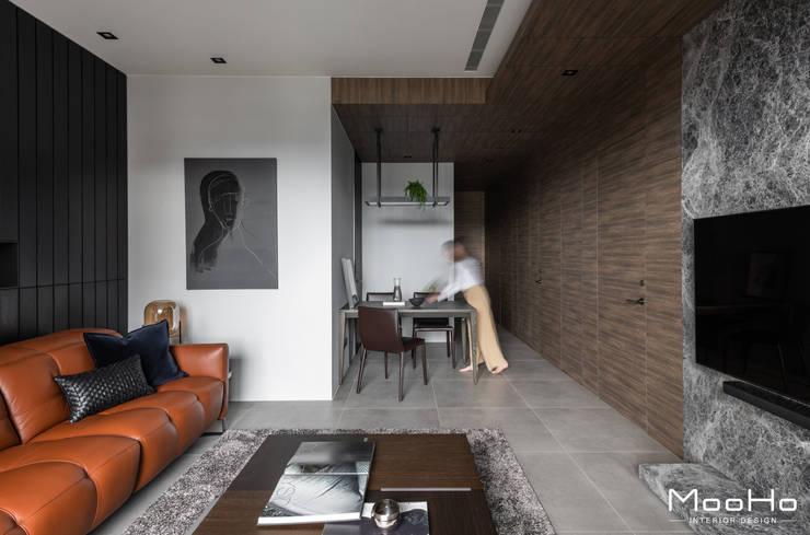 新店常宅:  客廳 by 沐荷設計工程有限公司, 現代風