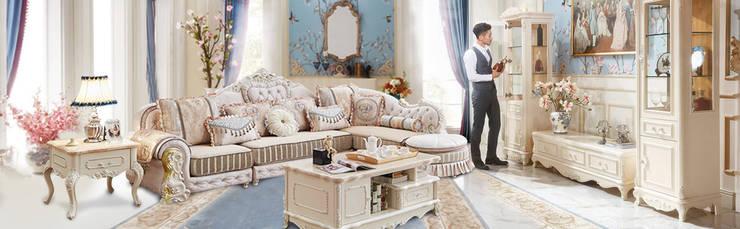 gói nội thất phòng khách: scandinavian  by Công Ty Nội Thất Onplaza , Bắc Âu Da Grey