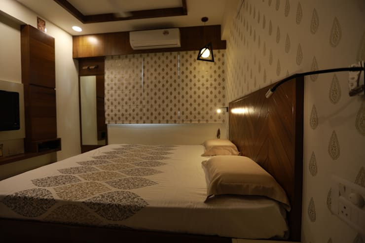 Sunita Sreeram house:  Small bedroom by Fluid Studio, Modern MDF