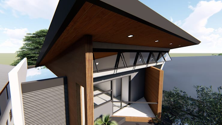 Balcony:  Balcony by Structura Architects, Modern Wood-Plastic Composite