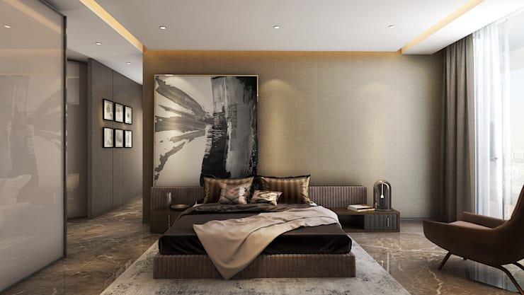 Bedroom:  Bedroom by  Ashleys,Modern