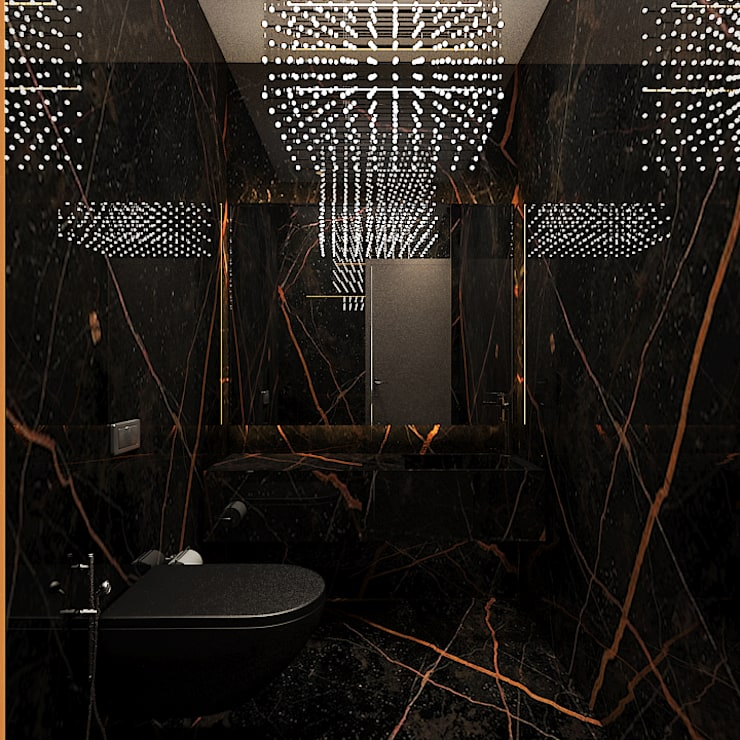 Powder room:  Bathroom by  Ashleys,Modern