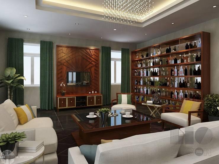 Phòng khách biệt thự tân cổ điển: cổ điển  by Lio Decor, Kinh điển MDF