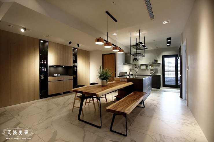 烹飪趣 x 品生活:  餐廳 by 匠將室內裝修設計股份有限公司, 工業風