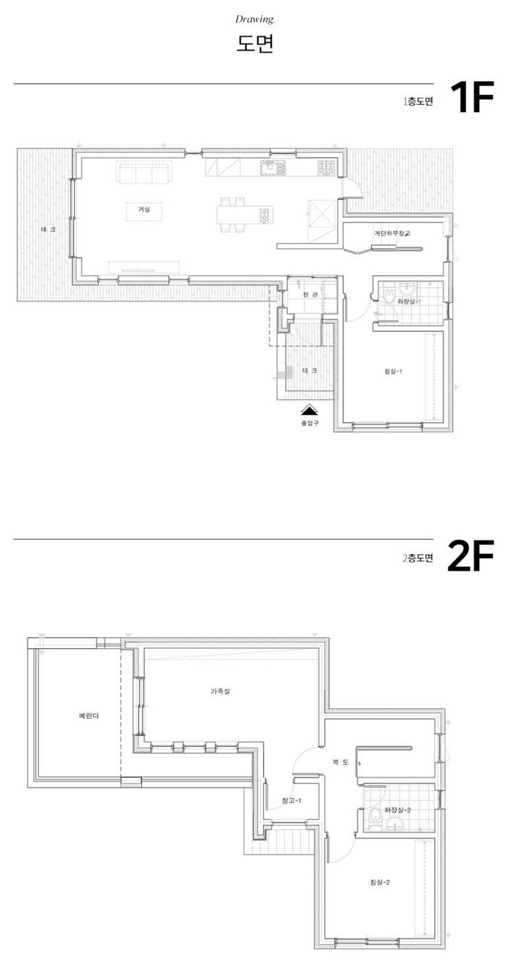 고요함을 그려낸 콘크리트주택: 한글주택(주)의 현대 ,모던