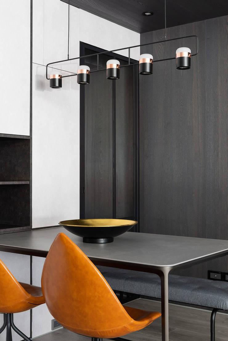 光影迴廊:  餐廳 by 知域設計, 現代風