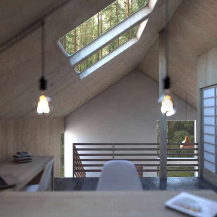 Casa Galpón HI-I: Dormitorios de estilo  por Soc. Constructora Cavent Spa, Moderno