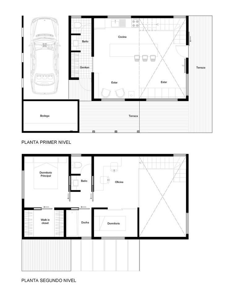 Casa Galpón HI-I: Casas de estilo  por Soc. Constructora Cavent Spa, Moderno