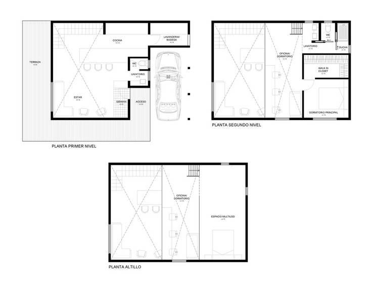 Casa Galpón HI-II:  de estilo  por Soc. Constructora Cavent Spa, Moderno