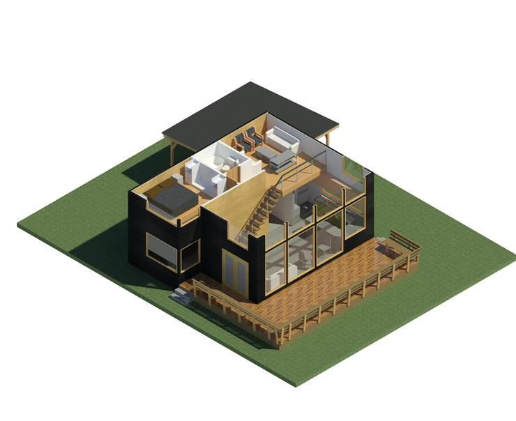 Casa BDM: Casas de estilo  por Soc. Constructora Cavent Spa, Moderno