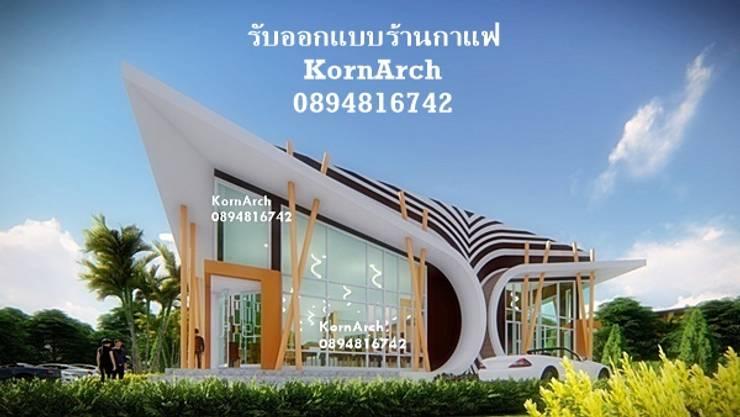 รับออกแบบร้านกาแฟ, รับออกแบบร้านอาหาร โดยทีมงานมืออาชีพ:  วิลล่า โดย กรอาร์ช ดีไซน์ / KornArch Design, โมเดิร์น คอนกรีต