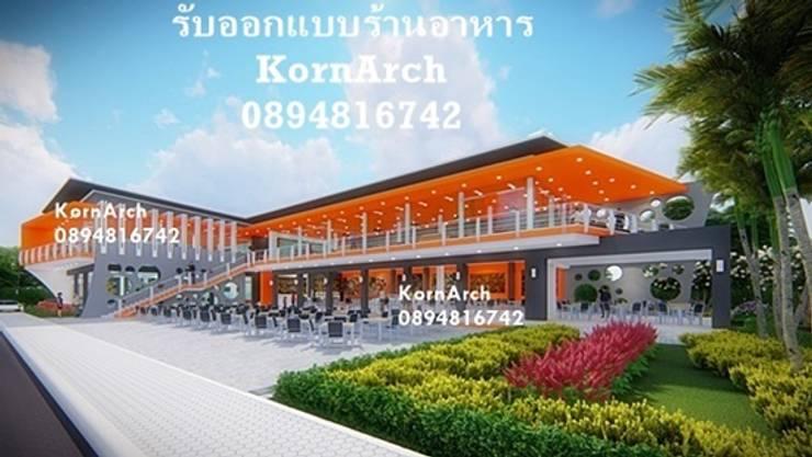 รับออกแบบร้านอาหาร, รับออกแบบร้านค้า โดยทีมงานมืออาชีพ:  วิลล่า โดย กรอาร์ช ดีไซน์ / KornArch Design, โมเดิร์น คอนกรีต