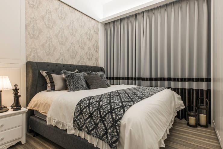 主臥:  小臥室 by 你你空間設計, 古典風 塑木複合材料