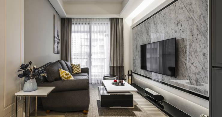 客廳:  客廳 by 你你空間設計, 古典風 大理石