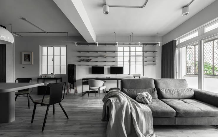 living area:  客廳 by 湜湜空間設計, 簡約風