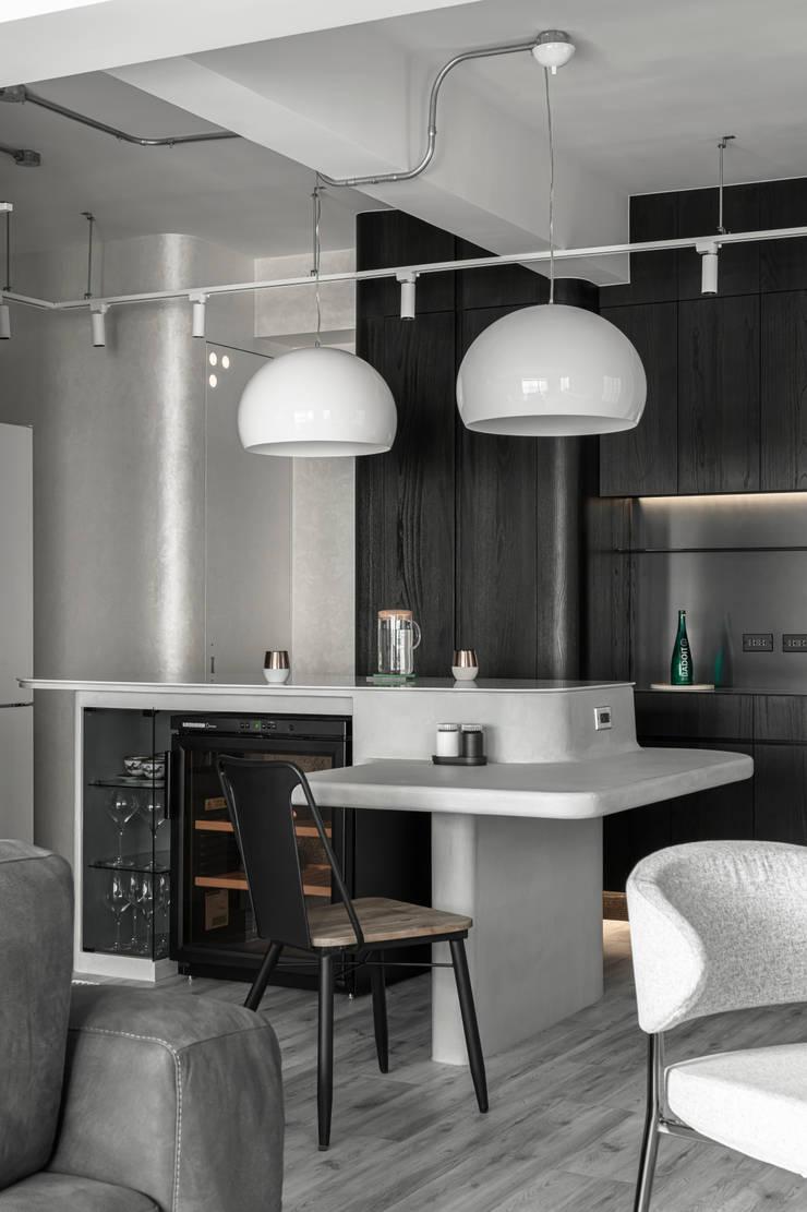 living area:  餐廳 by 湜湜空間設計, 簡約風