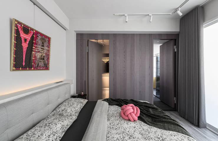 Bedroom:  臥室 by 湜湜空間設計, 簡約風
