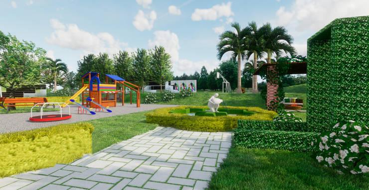 Jardines: Jardines de piedra de estilo  por ROQA.7 ARQUITECTURA Y PAISAJE, Tropical