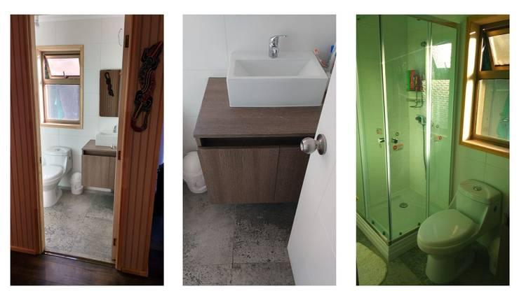 Casa Quinta Tunquen : Baños de estilo  por Montgreen Ecomodular, Mediterráneo