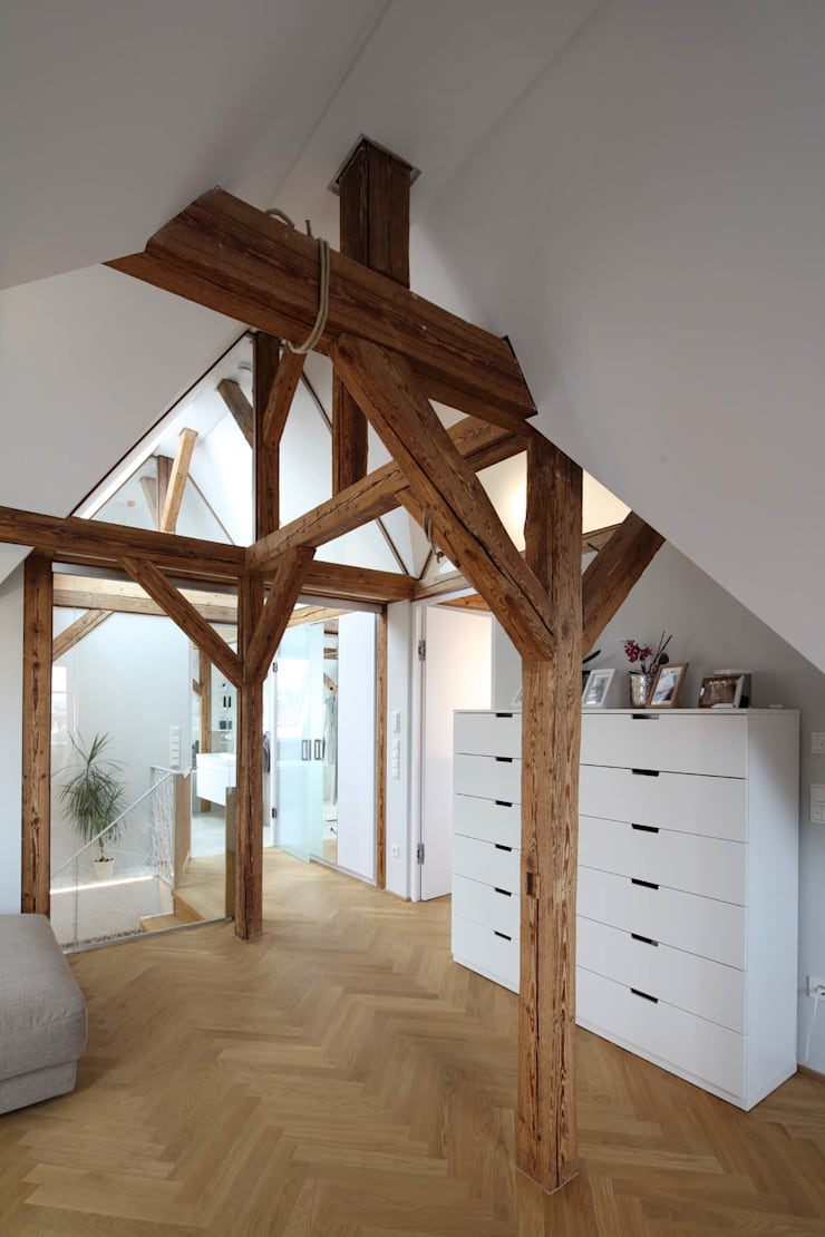 Modern living room by Architekturbüro zwo P Modern Wood Wood effect