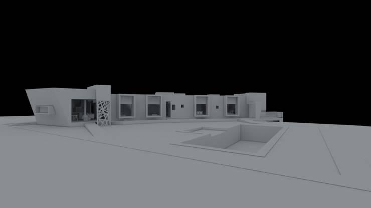 Diseño especial vivienda unifamiliar 3 dormitorios, 3 baños estar comedor: Casas unifamiliares de estilo  por BC ASESORIAS ARQUITECTURA Y CONSTRUCCION, Moderno Madera Acabado en madera