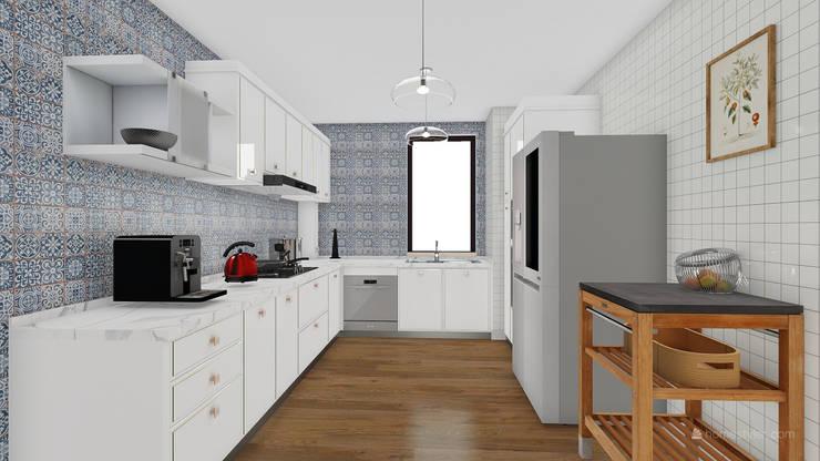 Proyecto de remodelación - Av. Precursores:  de estilo  por JRV Arquitectura y Diseño, Escandinavo Azulejos