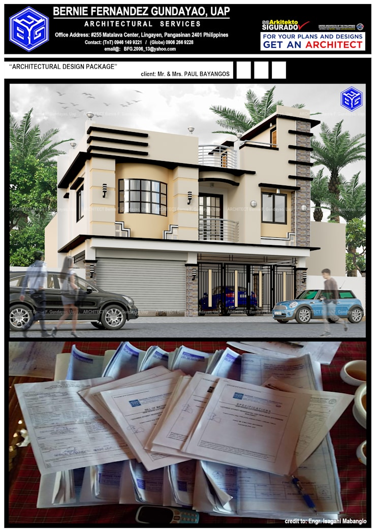 """""""TWO(2)-STOREY RESIDENTIAL-Additional"""":  Multi-Family house by BFG Architectural Services, Asian Concrete"""
