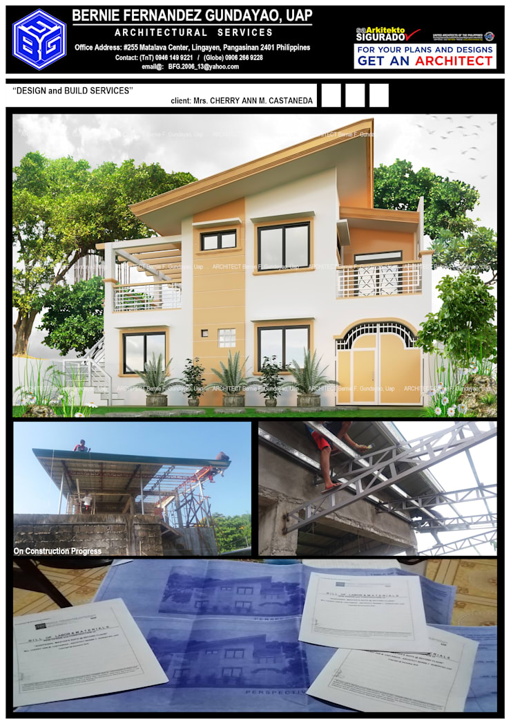 """""""TWO(2)-STOREY RESIDENTIAL"""":  Multi-Family house by BFG Architectural Services, Asian Concrete"""