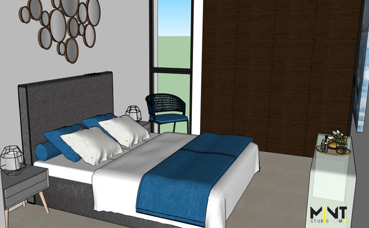 Dormitorios de estilo mediterráneo de 2 MINT STUDIO Mediterráneo