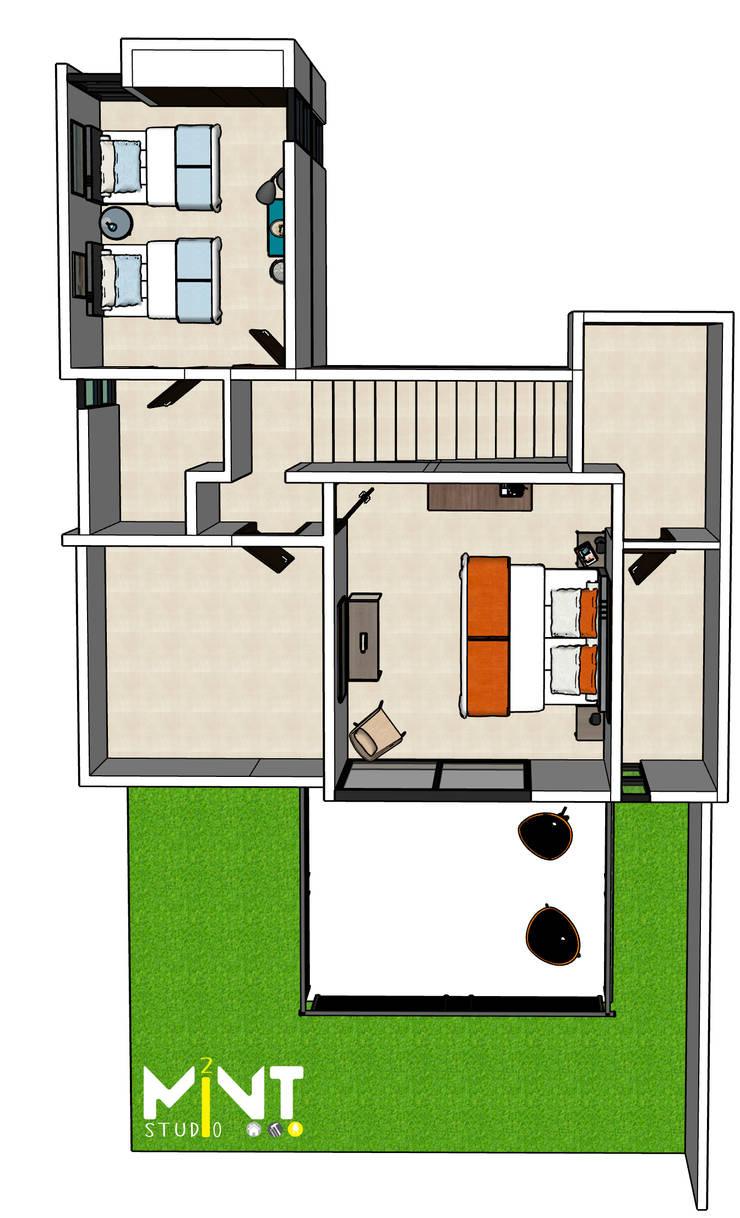 Mediterranean style bedroom by 2 MINT STUDIO Mediterranean