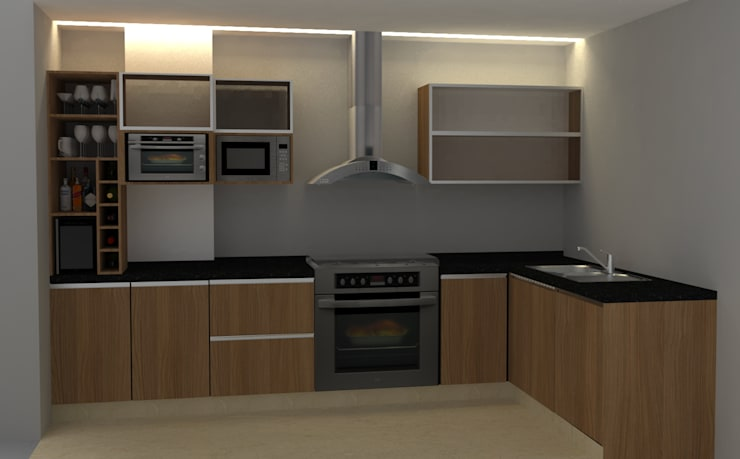 Cocinas de estilo moderno de 2 MINT STUDIO Moderno
