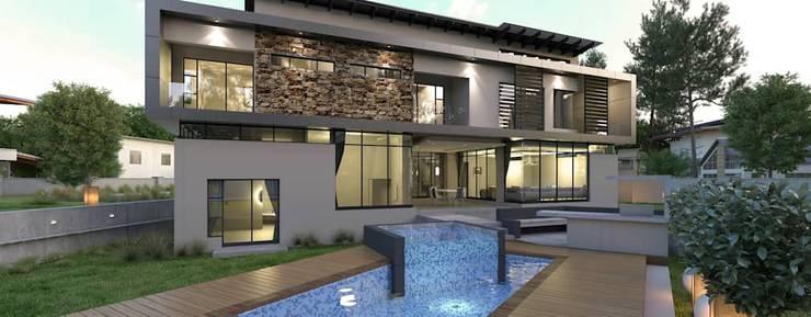 Saxonworld:  Houses by Wentworth Construction, Minimalist Concrete