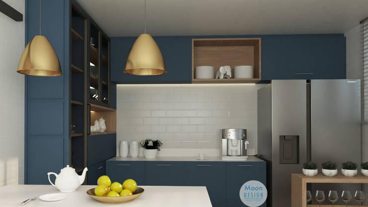 Cocina : Cocinas equipadas de estilo  por Moon Design, Moderno