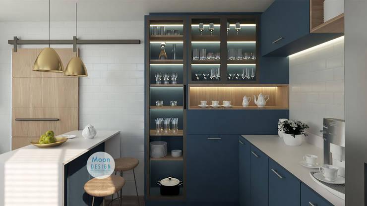 cocina: Cocinas de estilo  por Moon Design, Moderno