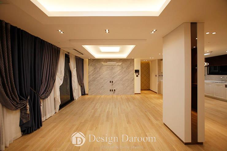 Livings de estilo moderno de Design Daroom 디자인다룸 Moderno