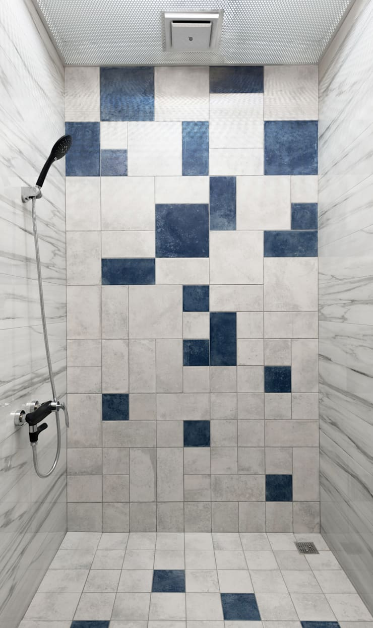 Bathroom by 肯星室內設計, Mediterranean