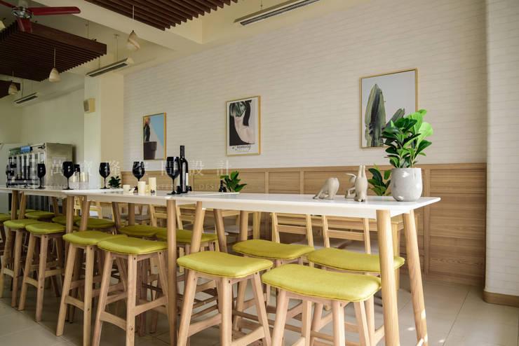 億載國小餐廳:  餐廳 by SING萬寶隆空間設計, 北歐風