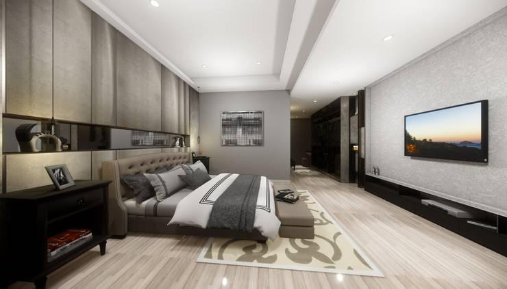 優雅輕古典-臥室 Classic style bedroom by 台灣柏林室內設計 Classic