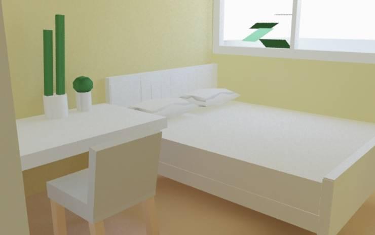 主臥:  臥室 by 室 內 設 計, 鄉村風