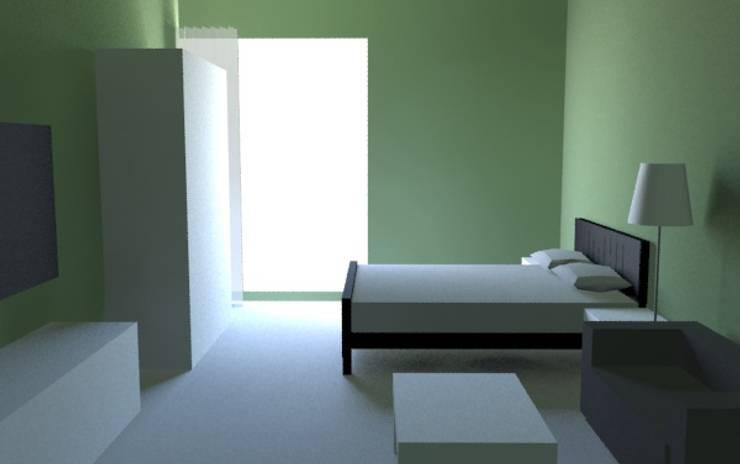 套房設計:  商業空間 by 室 內 設 計, 北歐風