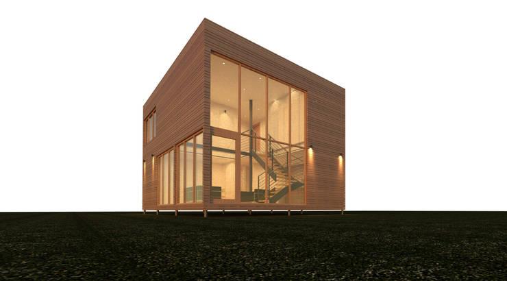 Casa Matanza: Casas ecológicas de estilo  por CLAN arquitectos, Mediterráneo Madera maciza Multicolor