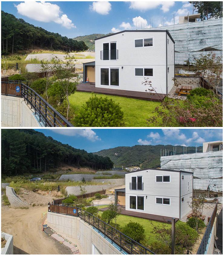 Exterior :: 외관: 공간제작소(주)의  목조 주택,클래식