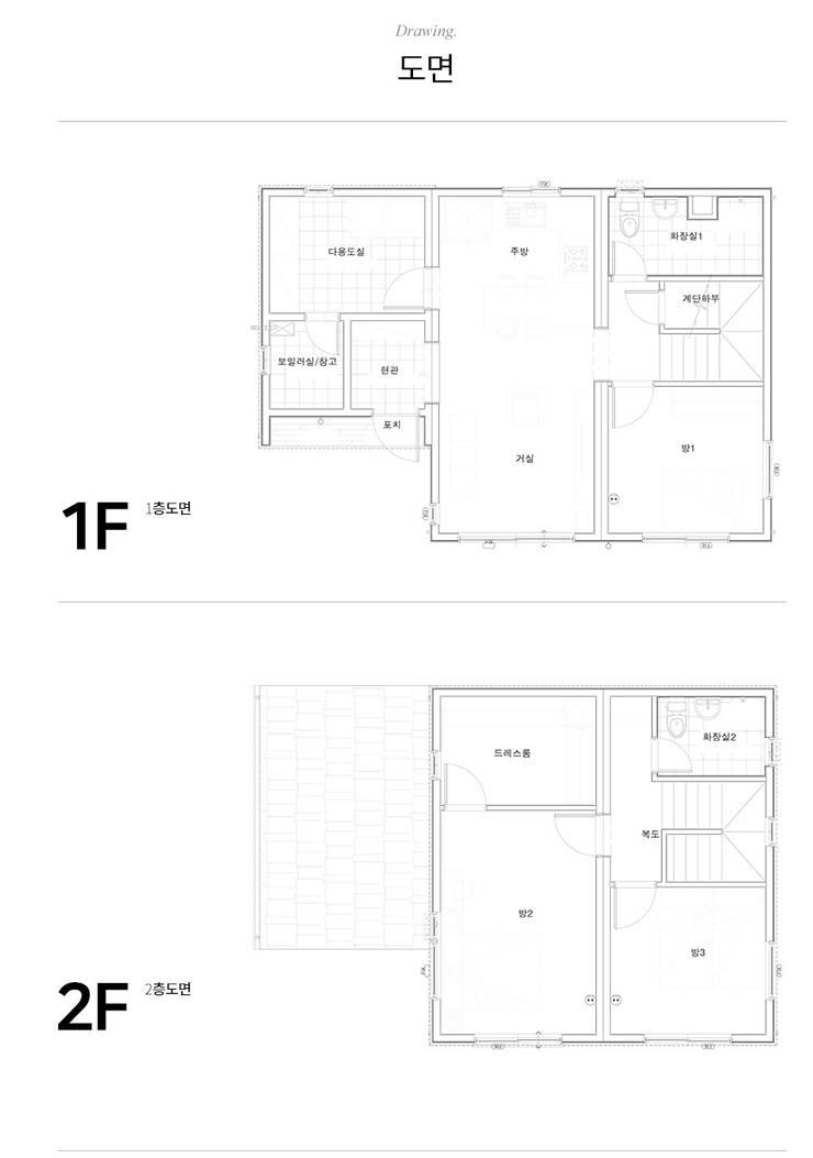 floor plan :: 도면: 공간제작소(주)의  목조 주택,클래식