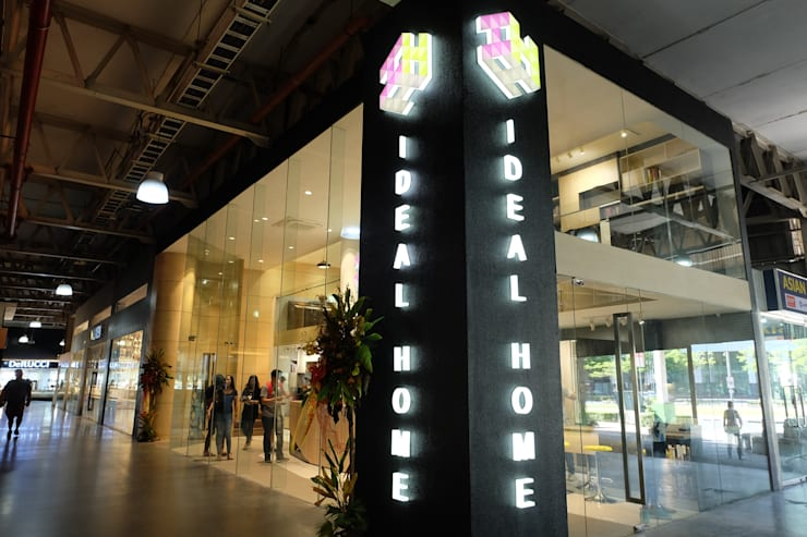Ideal Home BGC Showroom Facade:  Commercial Spaces by Ideal Home, Modern Concrete